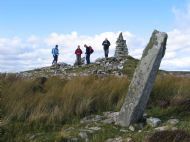 Chambered cairn and standing stones at Cnoc na Maranaich Dunbeath. ( Photo taken by Roy Blackburn)