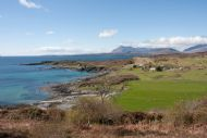 The crofting township of Tarskavaig, home of Braeside Cottage