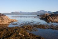 Ord, on the north shore of Sleat, looking to the Cuillins
