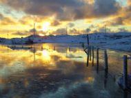 Winter dawn, Kallin, Grimsay