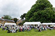 Typical scene on the green, from Creaton in Bloom 2014