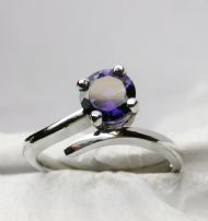 18ct White Gold and   Iolite Set Ring