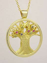 18ct Yellow Gold and Sapphire Pendant