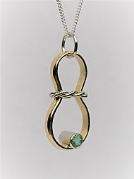 22 and 18ct Gold, Emerald Pendant