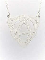 Engraved Trinity Knot Pendant
