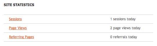 plexus webstarter 6 - site statistics