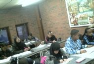 students working at the dominion arts and education centre school