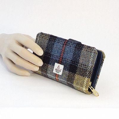 mackenzie tartan harris tweed purse by roses workshop