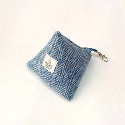 harris tweed pyramid shaped purse by roses workshop