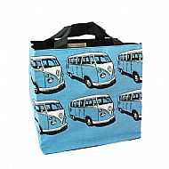 Blue campervan tote bag