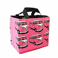 Pink campervan tote bag
