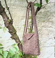 Chunky knit brown bag