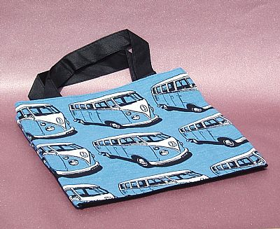 blue bag vw campervan print