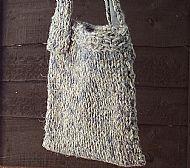 Herdwick chunky knit bag blue grey