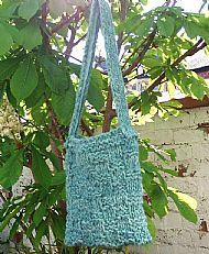 Chunky knit blue Herdwick bag