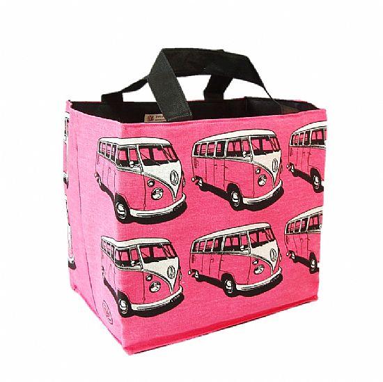 pink campervan beach bag by roses workshop