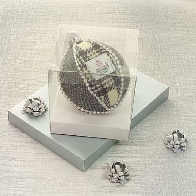 heirloom harris tweed christmas decoration by roses workshop