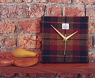 Harris tweed square clock Autumn colours