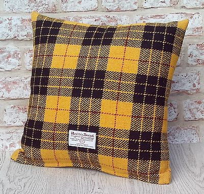 loud macleod tartan harris tweed cushion by roses workshop