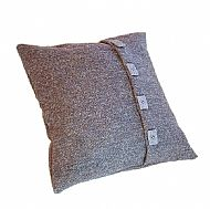 Harris Tweed grey cushion
