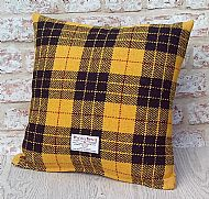 MacLeod tartan Harris tweed cushion
