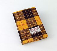 Harris tweed A5 book cover Macleod tartan