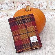 Harris tweed A6 book cover autumn