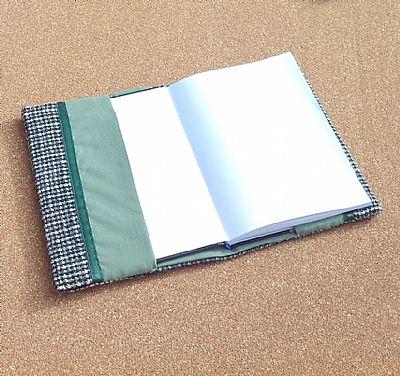 blue green harris tweed book cover