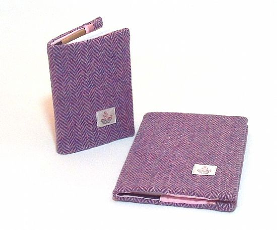 harris tweed covered notebooks and diaries by roses workshop