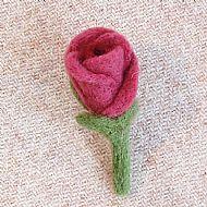 Pink rosebud brooch