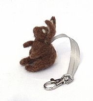 Rabbit keyring