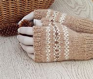 Pure Alpaca gloves fairisle