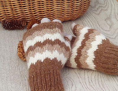 brown alpaca gloves by roses workshop