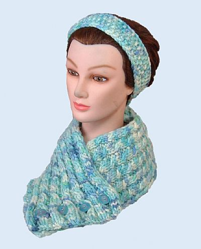 luxury scarf cowl blue green british wool