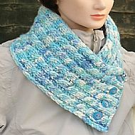 Luxury scarf cowl hand-dyed soft wool