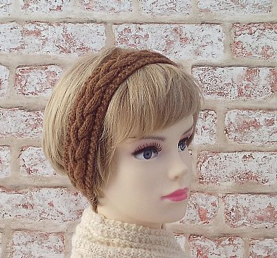 manx loaghtan british wool knitted hairband by roses workshop