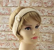 Cream Wensleydale hairband with flower