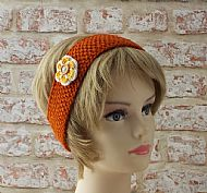 Orange flower hairband