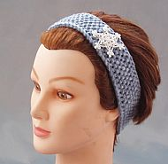 Snowflake hairband, girls blue