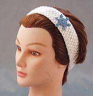 Snowflake hairband, girls white