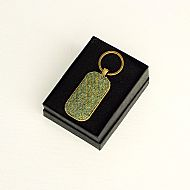 Harris tweed keyring rectangular sage green