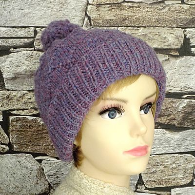 pure british wool bobble hat by roses workshop