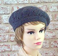Blue lacy beret