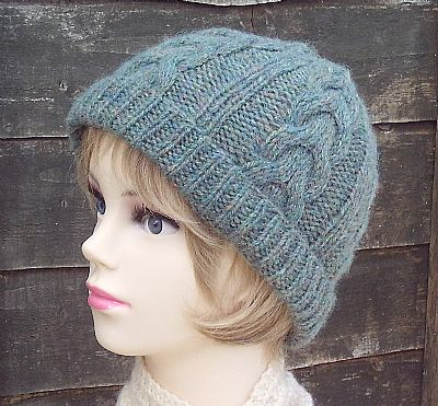 british wool green beanie by roses workshop