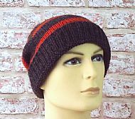 Jacobs brown and orange slouchy beanie