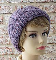 Lavender diamond pattern ladies hat