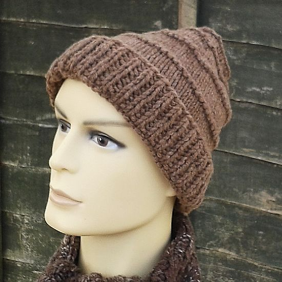 british rare breed manx loaghtan knitted beanie by roses workshop