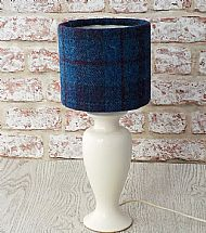 Small drum lampshade blue and purple