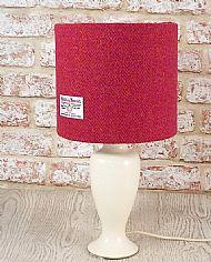 Medium drum lampshade pink orange herringbone
