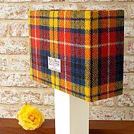 Medium rectangular lampshade bright tartan